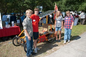 Students develop creative ways to utilize full-size photovoltaic panels in the Energy Innovations competition.