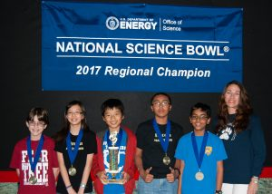 2017 Regional Champions, National Science Bowl