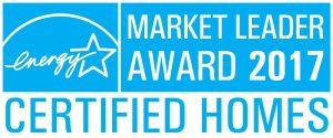 EnergyStar Market Leader Award 2017 Certified Homes logo