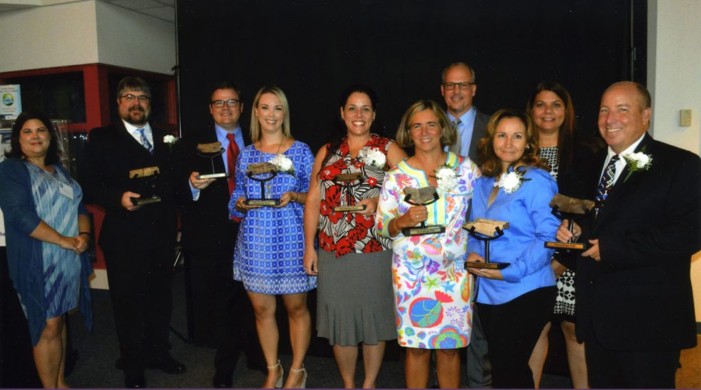 Photo of 2018 Exemplary Science Teachers and Brevard County administrators