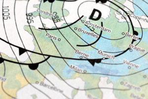 European weather map depression