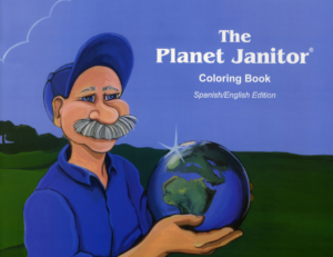 The Planet Janitor Coloring Book Spanish/English Edition