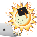 EnergyWhiz logo with sun on right and laptop on left