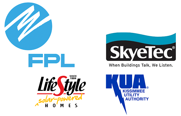 FPL, SkyeTec, LifeStyle Homes, Kissimmee Utility Authority logos